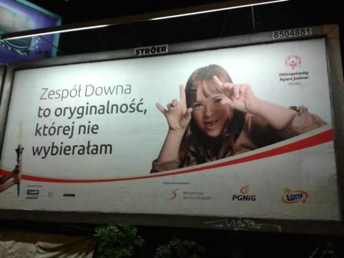 bilbord kampanii olimpiad specjalnych