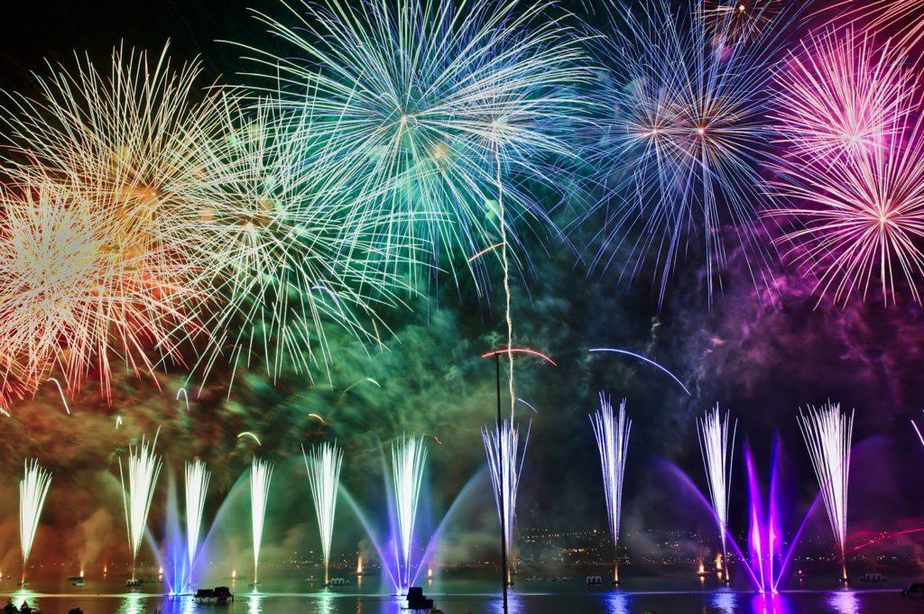 fajerwerki na Nowy Rok