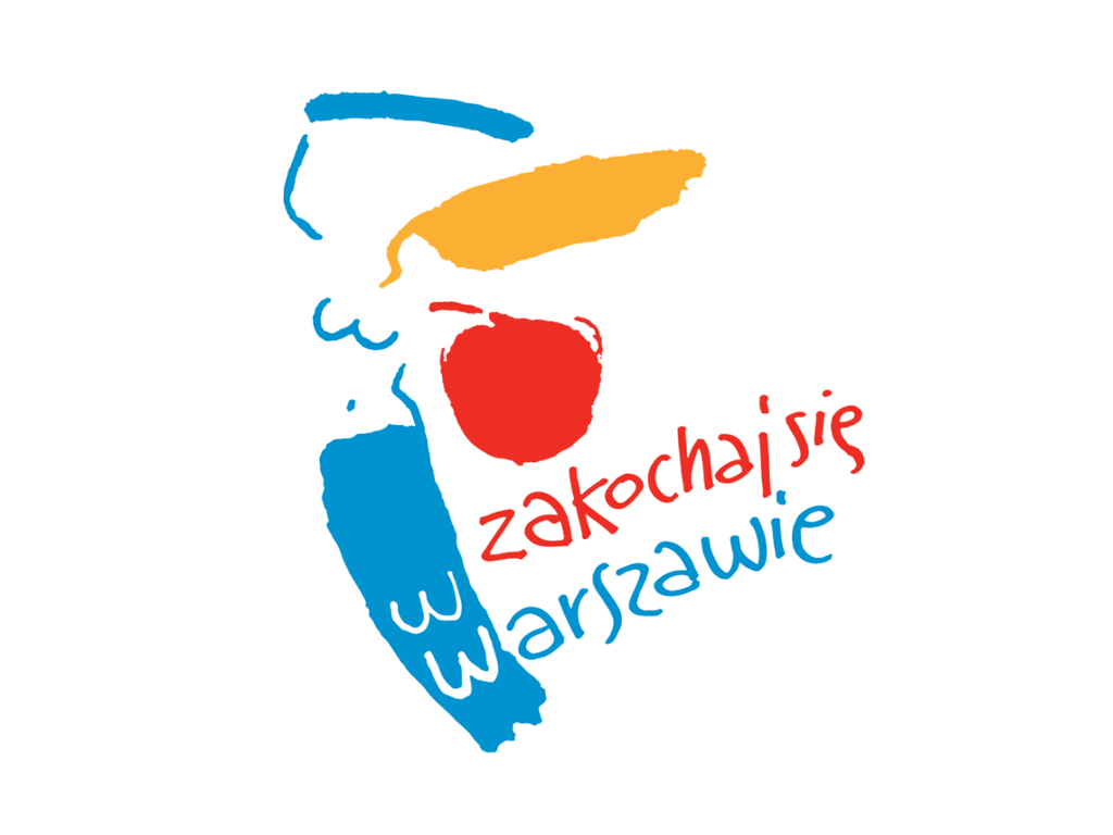 """logo """"Zakochaj się w Warszawie"""""""