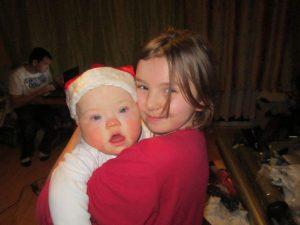 Miłosz ze starszą siostrą