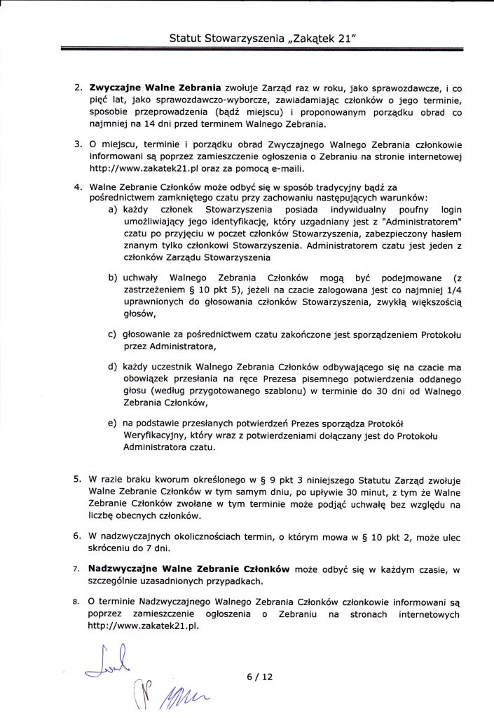 strona 6 statutu