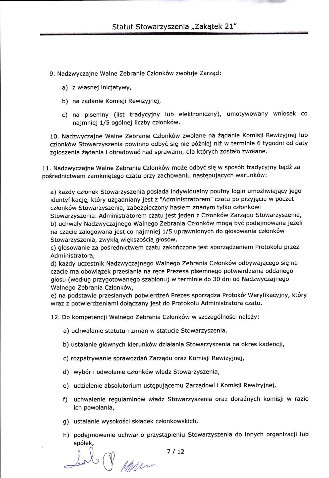 strona siódma statutu