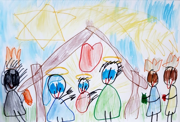 kartka Igora - Święta Rodzina itrzej Królowie