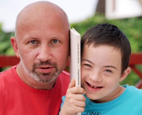 Grzegorz Dembiński z synem Jasiem